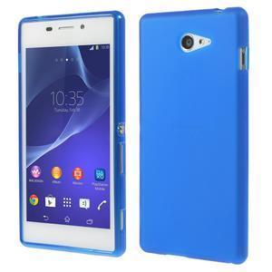 Gélové tenké puzdro na Sony Xperia M2 D2302 - modré - 1