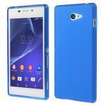 Gélové tenké puzdro na Sony Xperia M2 D2302 - modré - 1/5