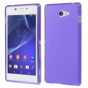 Gélové tenké puzdro na Sony Xperia M2 D2302 - fialové - 1