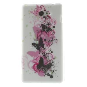 Gélové puzdro na Sony Xperia M2 D2302 - motýlí květ - 1