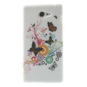 Gélové puzdro pre Sony Xperia M2 D2302 - farební motýľe - 1