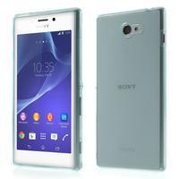 Gélové Ultraslim puzdro pre Sony Xperia M2 D2302- svetlo modré - 1/6