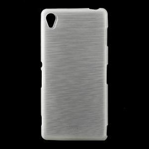 Gélové kartáčové puzdro pre Sony Xperia Z3 D6603 - biele - 1