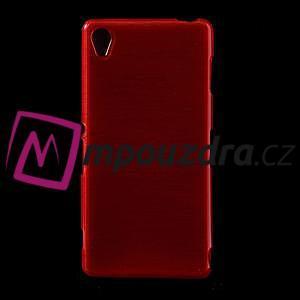 Gélové kartáčové puzdro pre Sony Xperia Z3 D6603 - červené - 1