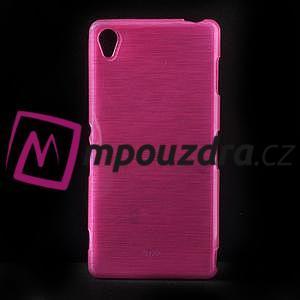 Gelové kartáčové pouzdro na Sony Xperia Z3 D6603 - růžové - 1
