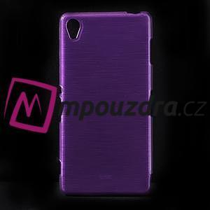 Gélové kartáčové puzdro pre Sony Xperia Z3 D6603 - fialové - 1