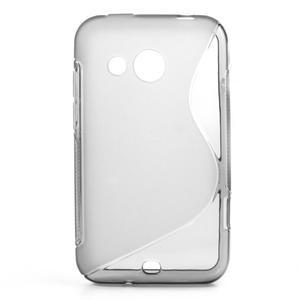 Gélové S-line puzdro pre HTC Desire 200- šedé - 1