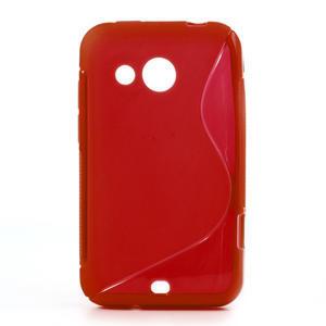 Gélové S-line puzdro pre HTC Desire 200- červené - 1