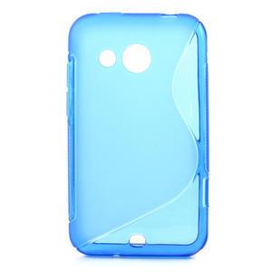 Gélové S-line puzdro pre HTC Desire 200- modré - 1