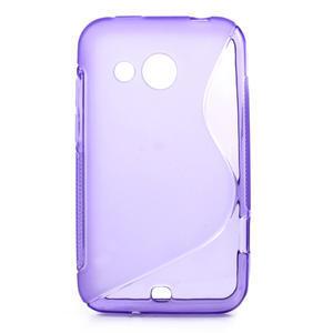 Gélové S-line puzdro pre HTC Desire 200- fialové - 1