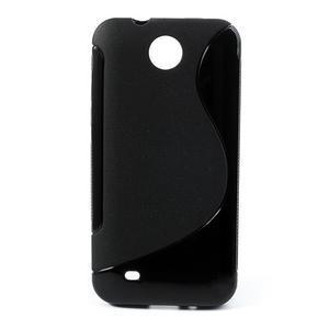 Gélové S-line puzdro pre HTC Desire 300 Zara mini- čierné - 1