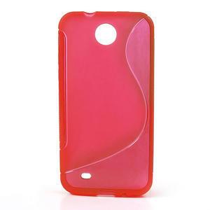 Gélové S-line puzdro pre HTC Desire 300 Zara mini- červené - 1