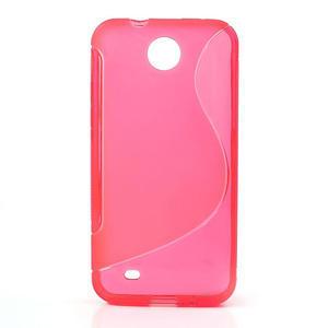 Gélové S-line puzdro pre HTC Desire 300 Zara mini- ružové - 1