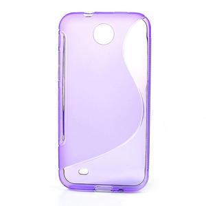 Gélové S-line puzdro pre HTC Desire 300 Zara mini- fialové - 1