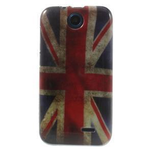 Gélové puzdro pre HTC Desire 310- UK vlajka - 1