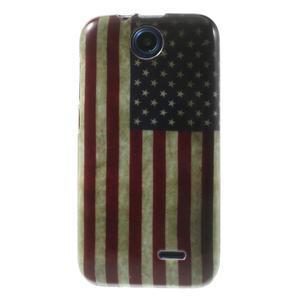 Gélové puzdro na HTC Desire 310- USA vlajka - 1