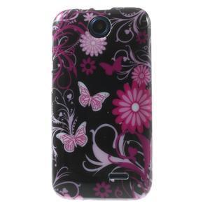 Gélové puzdro na HTC Desire 310- motýlci - 1