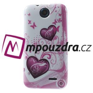 Gélové puzdro na HTC Desire 310- dvě srdce - 1