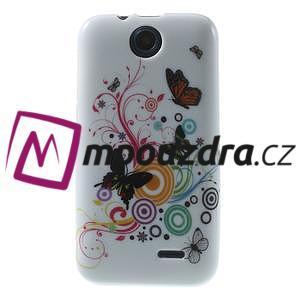 Gélové puzdro na HTC Desire 310- farebné motýlci - 1