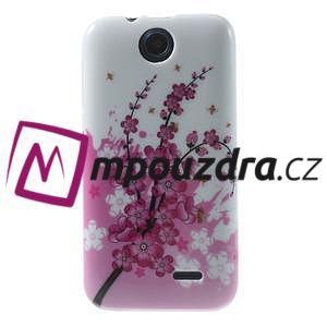 Gélové puzdro pre HTC Desire 310- kvitnúca vetva - 1