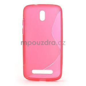 Gélové puzdro pre HTC Desire 500- růžové - 1