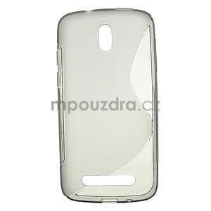 Gélové puzdro pre HTC Desire 500- šedé - 1