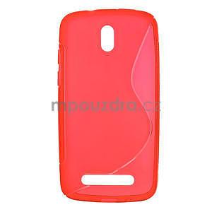 Gélové puzdro pre HTC Desire 500- červené - 1