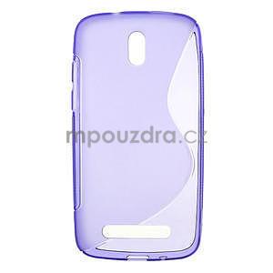 Gélové puzdro pre HTC Desire 500- fialové - 1