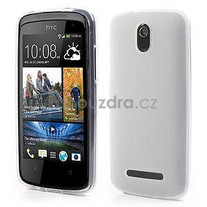 Gélové matné puzdro pre HTC Desire 500- biele - 1