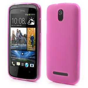 Gélové matné puzdro pre HTC Desire 500- růžové - 1