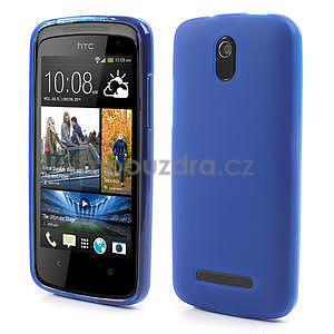 Gélové matné puzdro pre HTC Desire 500- modré - 1