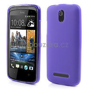 Gélové matné puzdro pre HTC Desire 500- fialové - 1