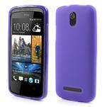Gélové matné puzdro pre HTC Desire 500- fialové - 1/5