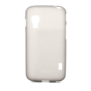 Matné gélové puzdro pre LG Optimus L5 Dual E455- sivé - 1