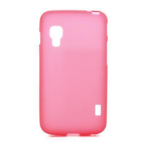 Matné gélové puzdro pre LG Optimus L5 Dual E455- červené - 1
