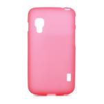 Matné gélové puzdro pre LG Optimus L5 Dual E455- červené - 1/4