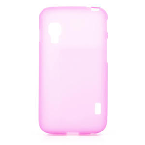 Matné gélové puzdro pre LG Optimus L5 Dual E455- ružové - 1