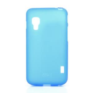 Matné gélové puzdro pre LG Optimus L5 Dual E455- modré - 1