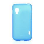 Matné gélové puzdro pre LG Optimus L5 Dual E455- modré - 1/4