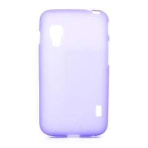 Matné gélové puzdro pre LG Optimus L5 Dual E455-fialová - 1