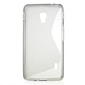Gélové S-line puzdro na LG Optimus F6 D505- šedé - 1
