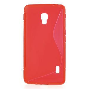Gélové S-line puzdro na LG Optimus F6 D505- červené - 1
