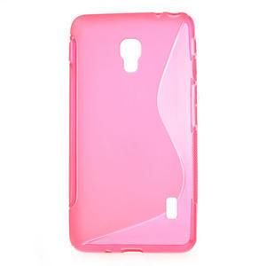 Gélové S-line puzdro pre LG Optimus F6 D505- ružové - 1
