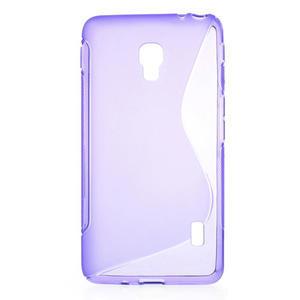 Gélové S-line puzdro na LG Optimus F6 D505- fialové - 1