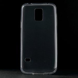 Gélové 0.6mm puzdro pre Samsung Galaxy S5 mini G-800- transparentný - 1