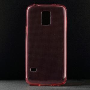 Gelové 0.6mm pouzdro na Samsung Galaxy S5 mini G-800- červené - 1