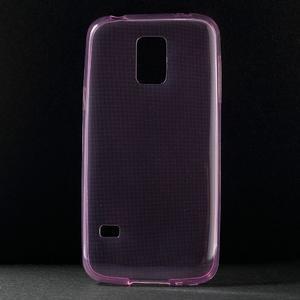 Gelové 0.6mm pouzdro na Samsung Galaxy S5 mini G-800- růžové - 1