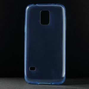 Gelové 0.6mm pouzdro na Samsung Galaxy S5 mini G-800- modré - 1