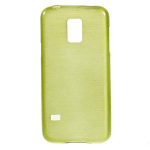 Kartáčové puzdro pre Samsung Galaxy S5 mini G-800- zelené - 1