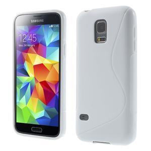 Gelové S-line pouzdro na Samsung Galaxy S5 mini G-800- bílé - 1
